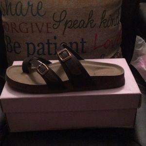 Brown footbed sandal by Madden Girl..NWOT